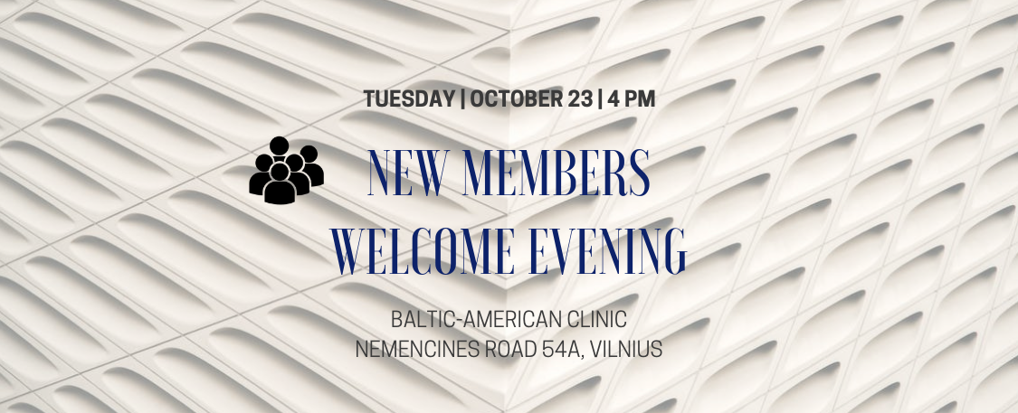 New Members Welcome Evening