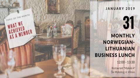 January Norwegian – Lithuanian Business Lunch