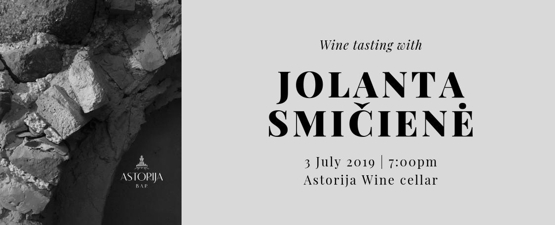 Wine tasting with Champagne expert Jolanta Smičienė