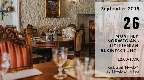 September Norwegian – Lithuanian Business Lunch