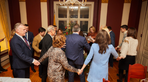 Julebord was celebrated at the Lithuanian Embassy in Oslo