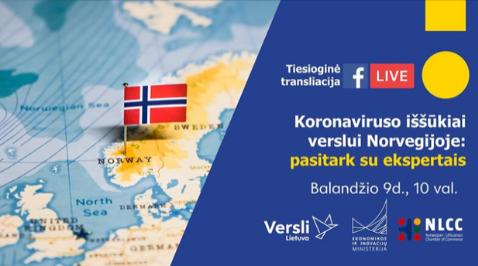 Koronaviruso iššūkiai verslui Norvegijoje