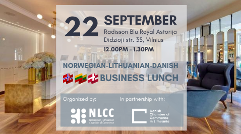 Norwegian-Lithuanian and Danish Business Lunch