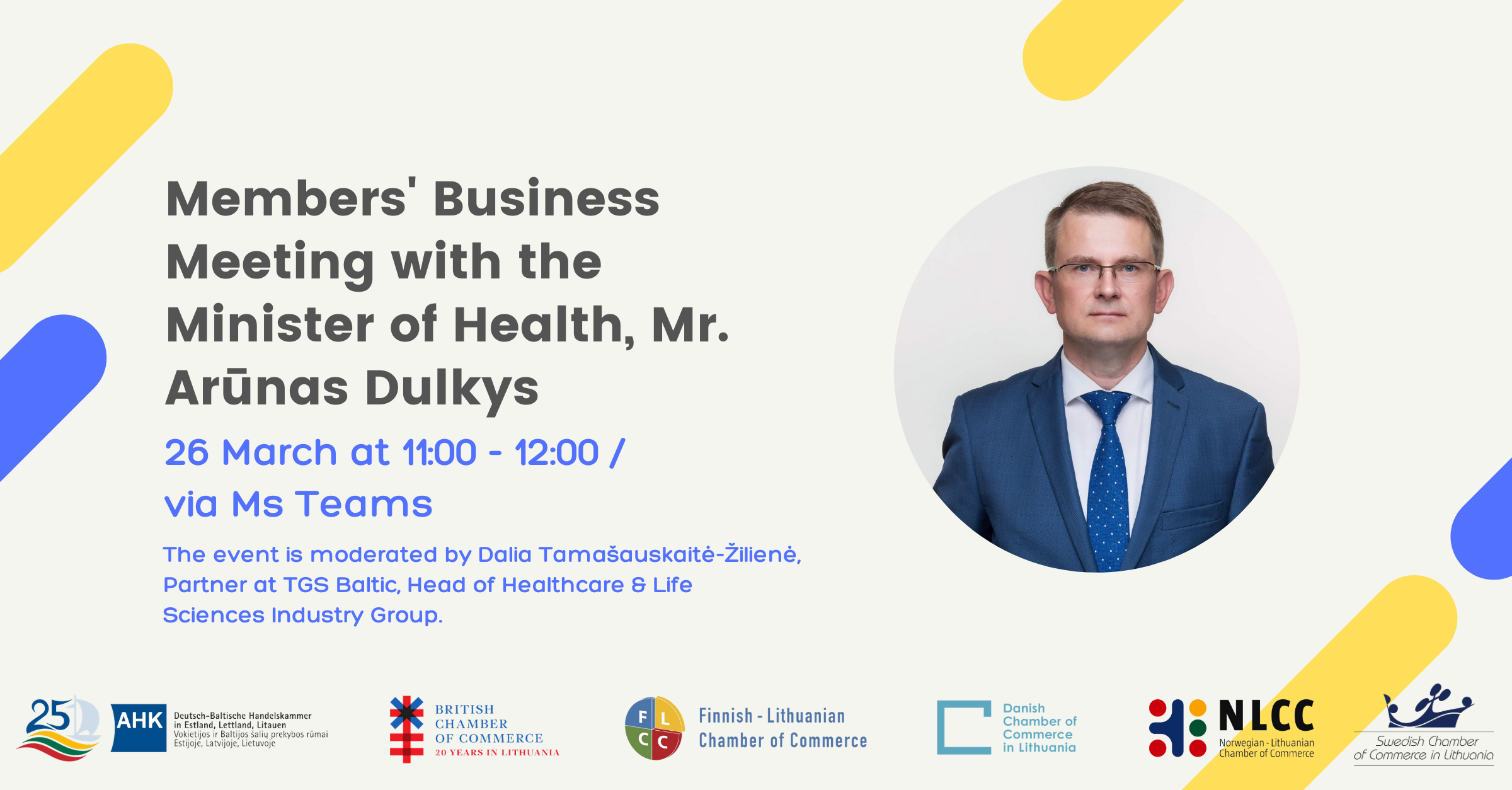 Members' Business Meeting with Minister of Health, Mr. Arūnas Dulkys