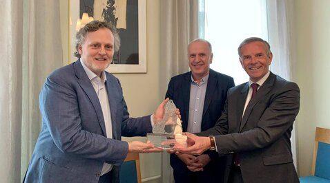 Kjetil Tetlie Hanssen was Awarded this Year's Kloster Lasse Award at Norwegian Ambassador's Residency